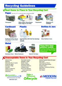 Recycling Guidelines for the residents of Cambridge Springs, PA Borough